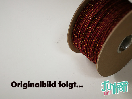 150 Meter Rolle Type I TINKER Cord, Farbe CHOCOLATE BROWN & GOLD METALLIC