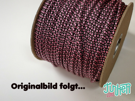 150 Meter Rolle Type II TINKER Cord, Farbe RANGER GREEN & ROSE PINK DIAMONDS