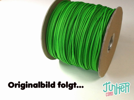 Meterware Type II TINKER Cord, Farbe NEON GREEN & KELLY GREEN STRIPE