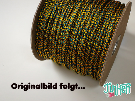 150 Meter Rolle Type II TINKER Cord, Farbe TEAL & GOLDENROD DIAMONDS