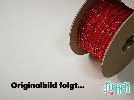 150 Meter Rolle Type I TINKER Cord, Farbe IMPERIAL RED & SILVER METALLIC