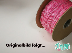 Meterware Type I TINKER Cord, Farbe ROSE PINK & SILVER...