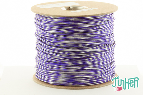 CUSTOM CUT Type II TINKER Cord in color ACID PURPLE & WHITE STRIPE