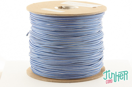 150m Rolle Type II TINKER Cord, Farbe ROYAL BLUE & WHITE STRIPE