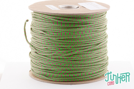 150m Spool Type II TINKER Cord in color NEON GREEN & FUCHSIA DIAMONDS