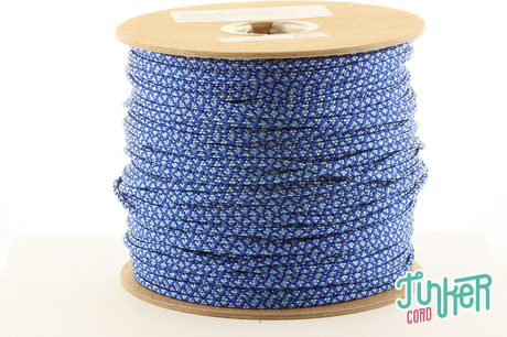 150m Rolle Type II TINKER Cord, Farbe ELECTRIC BLUE & BABY BLUE DIAMONDS