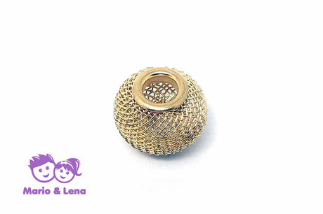 Korbball Perle Gold 14x14mm