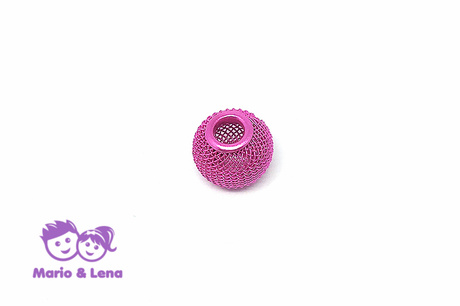 Korbball Perle Pink 14x14mm