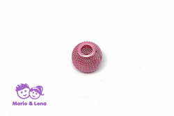 Korbball Perle Rose Pink 14x14mm