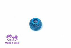 Korbball Perle Turquoise 14x14mm