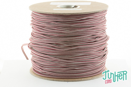 Meterware Type II TINKER Cord, Farbe CREAM & BURGUNDY STRIPE
