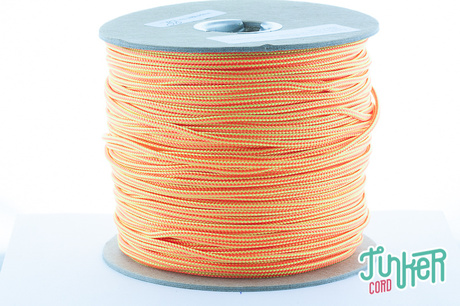 Meterware Type II TINKER Cord, Farbe NEON YELLOW & NEON ORANGE STRIPE