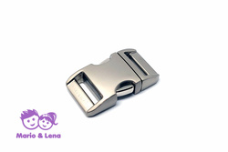 Aluminium Buckle 3/4  silver, satined