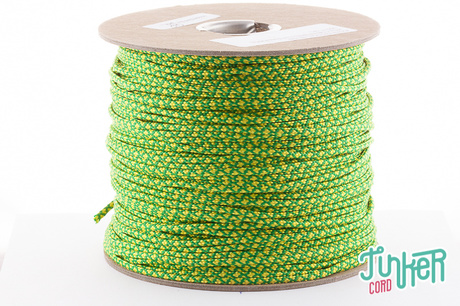 Meterware Type II TINKER Cord, Farbe KELLY GREEN & YELLOW DIAMONDS