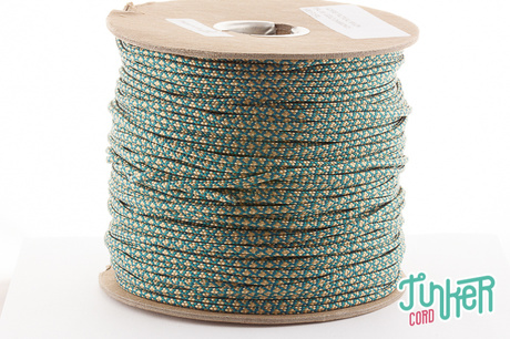 150m Spool Type II TINKER Cord in color TEAL & GOLD DIAMONDS