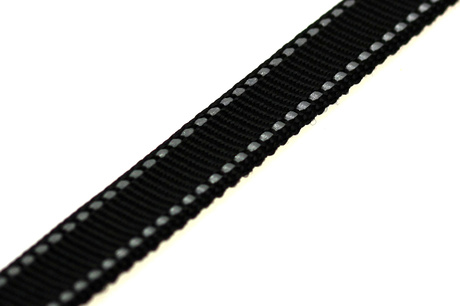 Webbing reflective 20mm, Black
