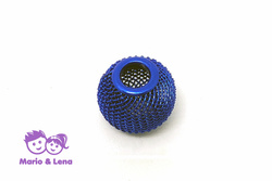 Korbball Perle Electric Blue 14x14mm