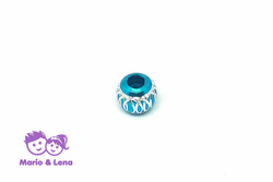 Bead Turquoise silver raster