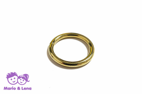O-Ring 16mm Stahl Gold